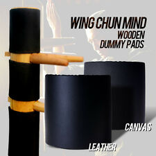 Wing Chun Mind  dummy Head Protect Leather  Pads Wing Stun Kung Fu Pads 3 Pieces