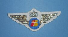 IBERIA SPAIN AIRLINES RARE EMBROIDERED CLOTH JUNIOR JR PILOT KIDDIE WINGS BADGE