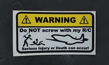 RC PLANE Warning Decals for nitro electric gas dynam hanger9 eflight sticker