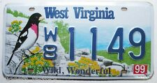 Plaque d Immatriculaltion USA West Virginia  ( Rep - 089 )