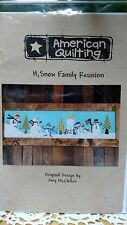 H2 SNOW FAMILY REUNION American Quilting Pattern by Amy McClellan