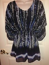 SHE'S COOL, LINED BODY, ELASTIC WAIST, SIZE XL TUNIC TOP
