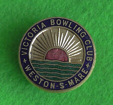 Victoria Weston Super Mare Bowling Club Bowls Bowl Bowling Enamel Pin Badge