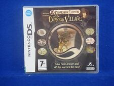 ds PROFESSOR LAYTON And The Curious Village PAL REGION FREE Lite 3DS Nintendo