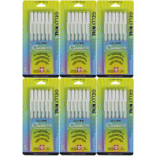 Sakura Gelly Roll Medium Point - 6 Sets of the 6pk WHITE Color Ink Pen Set