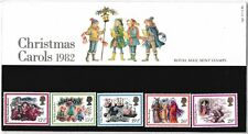 M1369dmsA5lc 1982 GB UK Christmas British Stamp pack