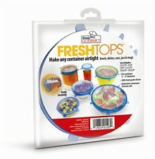 6 Fresh Tops Make any Container AirTight Lids Bowls Cans Jars Mugs Dishes Seals