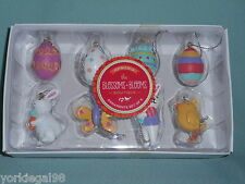 Spring The Blossoms & Blooms Boutique Set of 8 Mini Easter Tree Ornaments