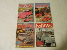 LOT OF 4 DUNE BUGGIES AND HOT VWS MAGAZINES STEREOS,TOM MCEWENS BUG,STUNTS,BUGS