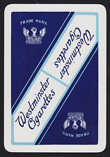 1 SINGLE VINTAGE PLAYING SWAP CARD WIDE ADVERT TOBACCO WESTMINSTER CIGARETTES