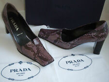 PRADA Designer Vintage Exotic Python Court Shoes Italy Size UK3.5 EU36.5 US6.5