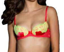 AGENT PROVOCATEUR Novah Red/Yellow Bra & Brief Set BNWT