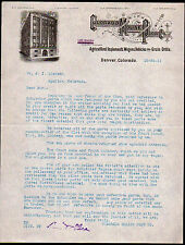 1911 Denver - Colorado Moline Plow Co - Agricultural Implements - Letter Head