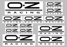OZ racing decals with clear background 13 quality printed and laminated stickers
