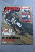 MOTO JOURNAL 640 HONDA 350 XLR ; SUZUKI GS 1100 G ; Enduro du TOUQUET 1984