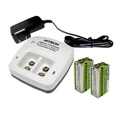 8 of Hitech #1 9v Lion 720mAh*Rechargeable*plus + 9v Smart Charger(2slots)*CE,UL