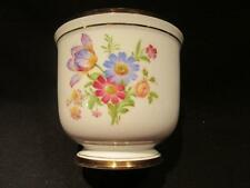 """VA Pottery Portugal Lovely Cachepot Planter Floral Design 4 1/4"""" Tall"""