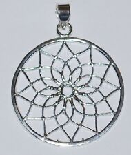 New Flower of Life Pendant Necklace - Hippy Ethnic Namaste Jewellery Hippie