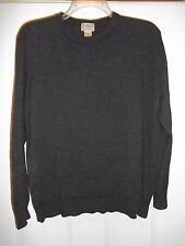 L.L. BEAN MEN'S XL-REG 100% LAMBSWOOL CREW NECK CHARCOAL GRAY SWEATER