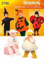 Simplicity 2788 Lamb Chick Witch Pumpkin Ladybird  6mths/4yrs Sewing Pattern