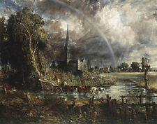 Constable John Salisbury Cathedral From The Meadows Print 11 x 14  #4391