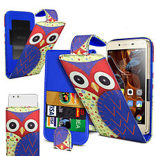 For ZTE Avid Plus -  (Owl) Clip On PU Leather Flip Case Cover
