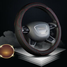 Car Steering Wheel Genuine Leather Cover 38cm Real Leather Auto Wheel Wrap Case