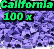 Lot 100 x set RJ45 Connector Cat5 Modular End Cap Boot Head Plug Cat6 Cable 5E