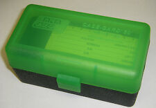 MTM Case Gard™ New MTM Plastic Ammo Box 50 Rd RM-50-16T Rifle 308 243 6mm GRN/BK