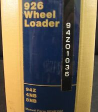 Cat Caterpillar 926 Wheel Loader Service Manual