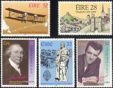 Ireland 1994 Aviation/Plane/TV/People/Castle/History/Transport 5v set  (n14606)