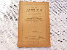 Partition Solfège des solfèges Albert Lavignac L.Lemoine C.Carulli ref 454w