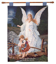 Direct Thy Paths Guardian Angel Tapestry Wall Hanging