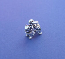 POMERANIAN DOG 3D SMALL CHARM 925 STERLING SILVER