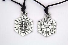 Armanen Runes Talisman Tree of Life Pendant Pagan Wicca Jewelry Necklace Balance