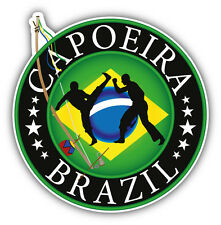Brazil Flag Capoeira Martial Arts Car Bumper Sticker Decal 5'' x 5''