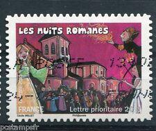 FRANCE 2011, TP AUTOADHESIF AA575, FETES et TRADITIONS, NUITS ROMANES, oblitéré