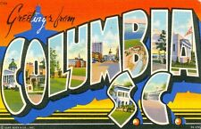 Columbia,SC. A 1942 Big letter Greeting from Columbia