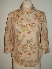 Rare ODILLE Anthropologie Butterfly Print Button Down Shirt Top - 6