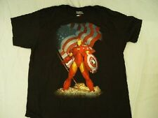 Avengers tshirt Iron Man American Flag shirt Mad Engine new