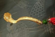 $300 OFF WOW! RARE FINE 24K SOLID GOLD CHINESE RUYI SCEPTER jade