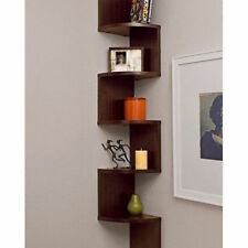 Wood Corner Wall Shelf Zig Zag Wooden Shelves Wooden Mount Rack Home Furniture