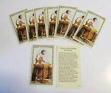 Lot of 25 Holy Cards, Prayer Cards of St. Joseph the Worker