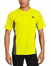 NWT!  Adidas Men's Supernova Short-Sleeve Running  Tee Shirt- yellow- large