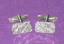 VINTAGE RETRO 1960/70s STYLISH SOLID STERLING SILVER CUFFLINKS