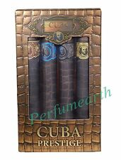 Cuba Prestige 4 Pcs Gift Set For Men,Classic,Black,Platinum.Legacy 1.17oz Spray