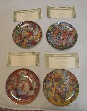 Bill Bell Cat Collector Plates   Valentine,  Easter, Thanksgiving & Christmas