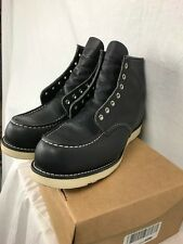 """NEW RED WING HERITAGE 6"""" MOC 9075 BOOTS MENS 12 BLACK LEATHER NO LACES"""