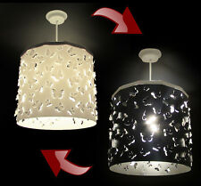 Black & White Butterflies cut out Lampshade Light Shade + 1 Ereki Magnetic Set