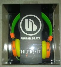 Urban Beatz Hi-Light Isolating Power Headphones High Fidelity Sound  NEW